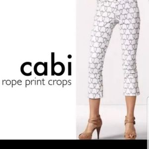 CAbi NAUTICAL ROPE PRINT CROPPED JEANS 6